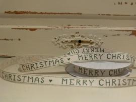 Lint Merry Christmas - creme/groen (BL34)