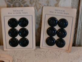 Knopenkaartje zwart - A (FT111)