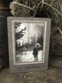 Houten bordje -  Oh Tannenbaum ...