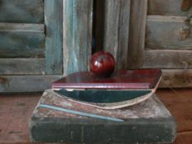 Grote houten inktvloeier met griffel
