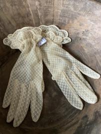 Oude nieuwe handschoenen - creme