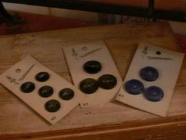 Set van 3 kaartjes met knoopjes (FT100)