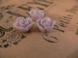 Kraal roos lichtgrijs/paars 16 mm. (3 stuks)  (KB76)