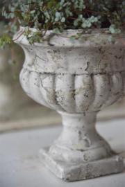 JDL Vintage bloempot - beige patina
