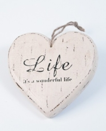 Houten hart - Life it`s a wonderful life (W041)