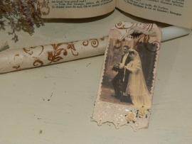 Kaars met trouwlabel - Bruidspaar C (H007)