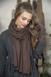 JDL Lange sjaal - True treasure - Dark brown