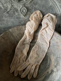 Oude nieuwe handschoenen - zalmrose