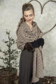 JDL lange sjaal - Adorable moments - Dark linen
