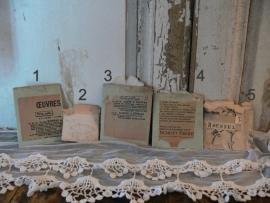 Oude zakjes met 3 lettermonogrammen (FT67)