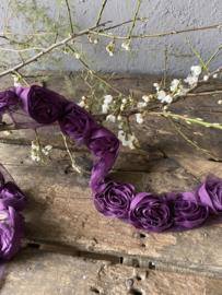 Organza rozenlint - paars
