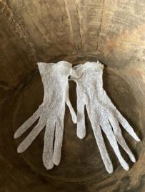 Oude nieuwe handschoenen - wit