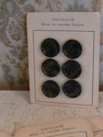 Knopenkaart zwart/grijs - F (FT111)