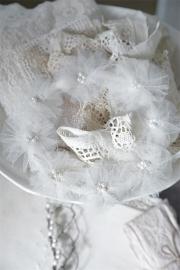 Jeanne d'Arc Living - klein wit vintage bruidskransje