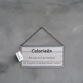 Tekstbord Calorieën ...
