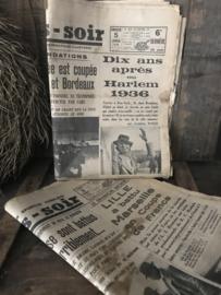 Oude franse krant