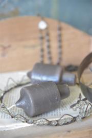 JDL - kaars 8 cm - grijs