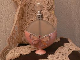 Parfumfles roze vlinder