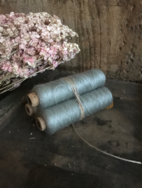 Set van 3 oude garenklossen - blauwgroen
