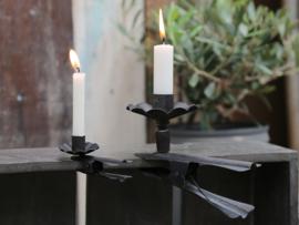 Chic  Antique - Zwarte kaarsenklem - groot