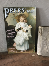 Metalen reclamebord Pears Soap