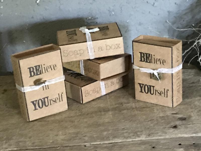 Doosje met 12 gastenzeepjes - Believe in yourself