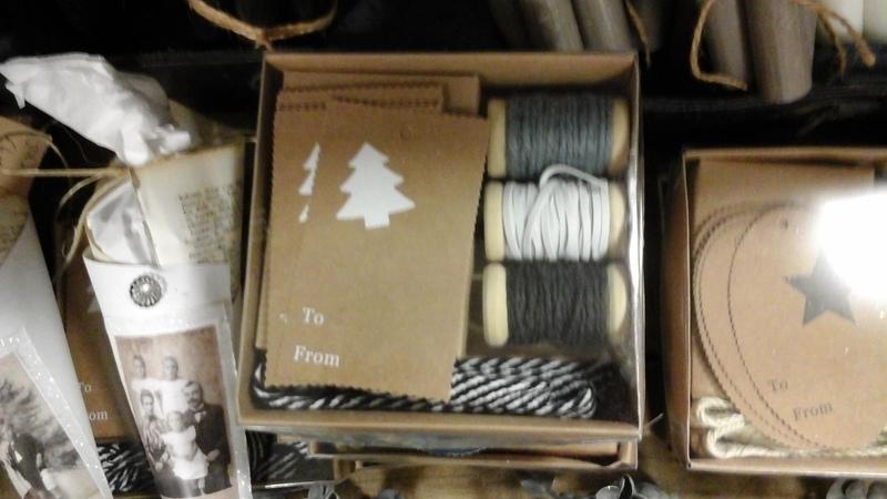 Doosje touw en labels  (witte kerstboom)