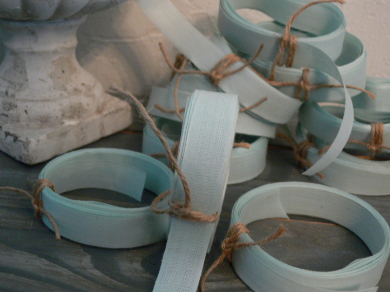 Oud bleekblauw band - 4 meter