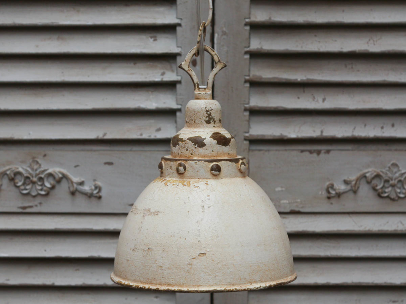 """Chic Antique"" Factory lamp antiek-creme"