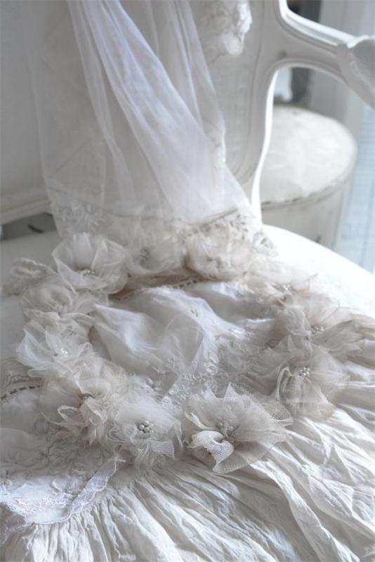 Jeanne d'Arc Living - Vintage witte bruidskrans (JDL19)
