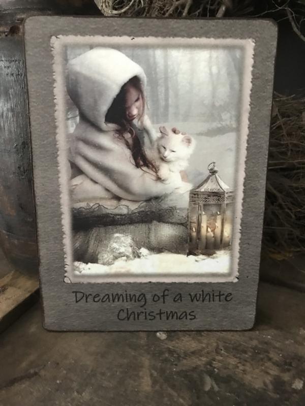 Houten bordje Dreaming of  ...