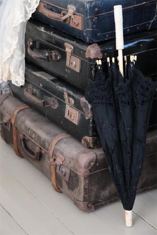 Jeanne d'Arc Living - Vintage parasol - zwart