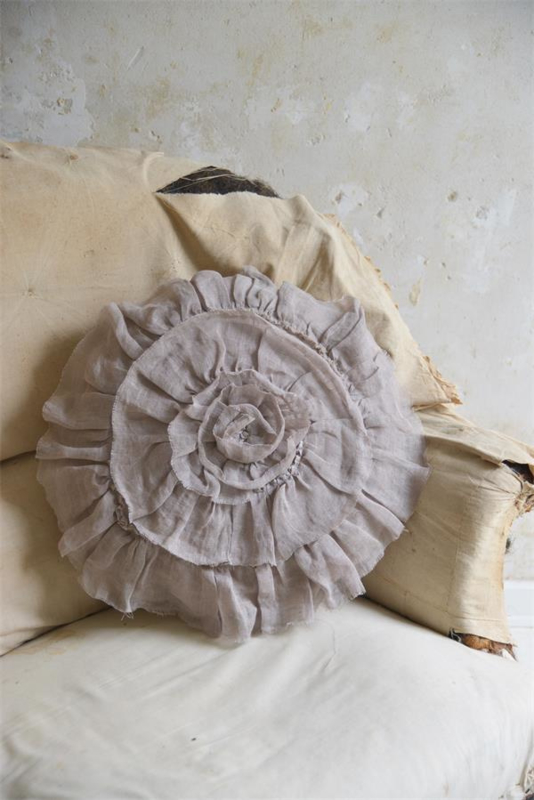 JDL - Kussen  Redoute rose - Mocca