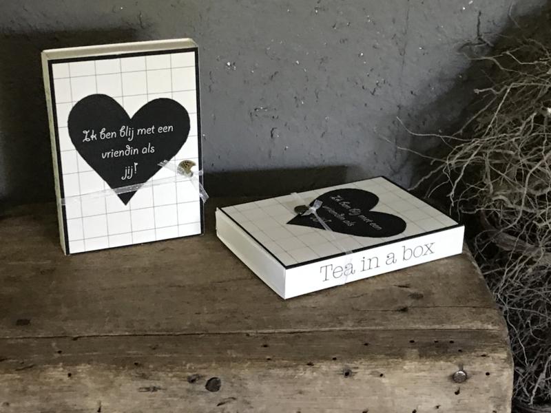 Tea in a box - ... blij met een vriendin ...
