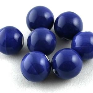 Delftsblauw ronde kraal 16 mm (KB69)