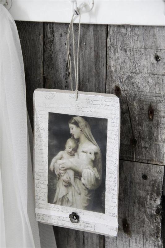 JDL - Kaart/hanger met Madonna ( 2 uitvoeringen)