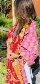 India sari omslagdoek XL