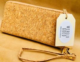 Portemonnee/tasje gemaakt van kurk