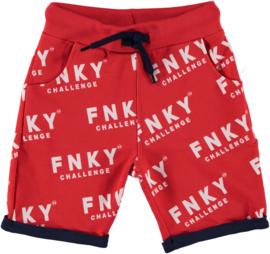 funky xs korte broek logo red