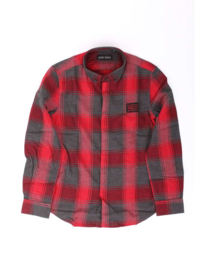 antony morato overhemd mksl000184 red