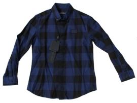 antony morato overhemd mksl000184 blue