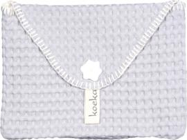 koeka baby purse antwerp-silver grey