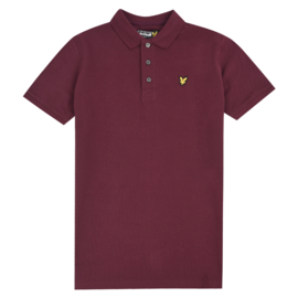 lyle and scott polo lsc145s wine