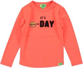 funky xs shirt Burger orange