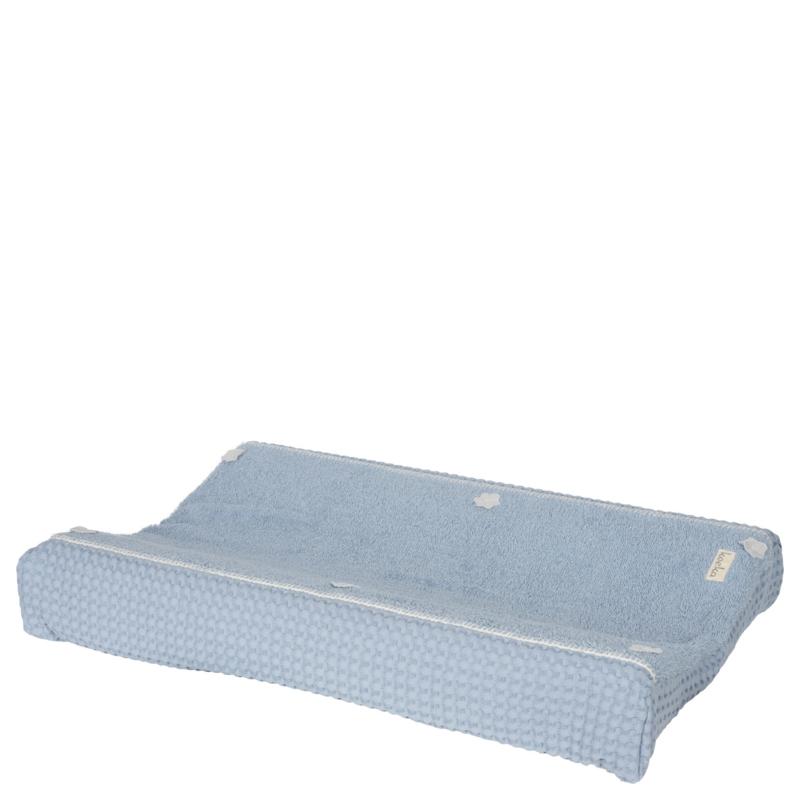 koeka aankleedkussenhoes-wafel-amsterdam soft blue