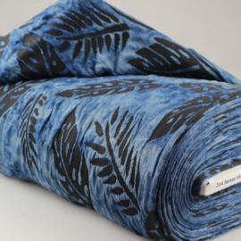Tuniek blauw zwart blad