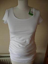 Kokkie wit shirt met korte mouw nog in S