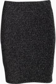 Rok tricot zwart zilverglitter