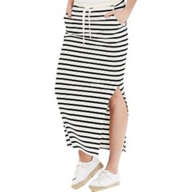 0 A Amani lange tricot rok strepen met of zonder split