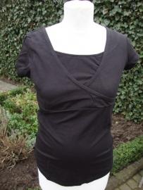 Kirsten zwart voedingsshirt met korte mouw, nog in M -L of XL